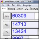 CrystalMark 2004 0.9.123.328A - информация и тест системы