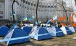 Пикетчики намерены остаться в центре Киева до вердикта КС