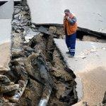 В Москве вновь произошел провал грунта