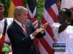 Буш исполнил ритуальный танец аборигенов