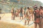 Кровавые бои гладиаторов превращаются в народное увеселение.