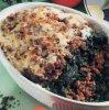 Рецепт. Запеканка из фарша со шпинатом. Раздельное питание.