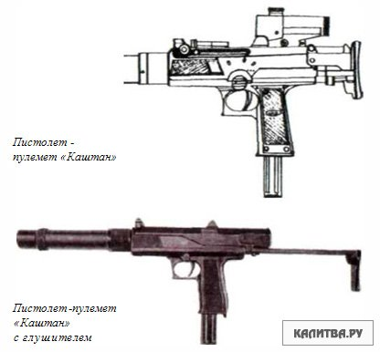 "Пистолет-пулемет ""Каштан"""