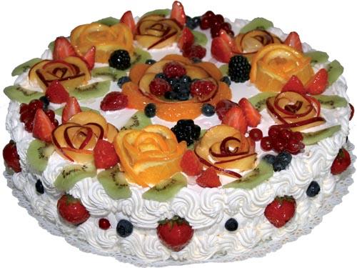Творожный strong торт с фруктами/strong, десерт.