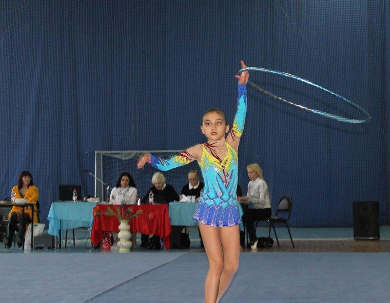 Фотосессия юной гимнастки.
