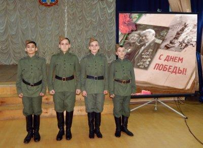 Белокалитвинские кадеты приехали в школу на праздник освобождения хутора Богатова от немецко-фашистких захватчиков